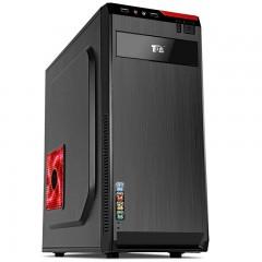 磨铁图书航嘉 USB2/3.0电脑主机箱 ATX台式机箱电脑机箱游戏机箱 支持大板 小黑U3、 厚钢板、背线 支持大板