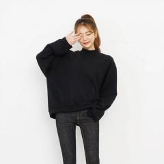 华帝新款韩版chic学生宽松短款外套上衣字母长袖连帽套头卫衣女潮