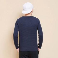 康比特森马针织衫 冬季男圆领套头青年毛衣小清新线衫毛衫纯色韩版学生
